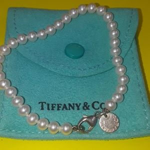 Tiffany & Co. Jewelry - Authentic Tiffany and Co pearl bracelet 925